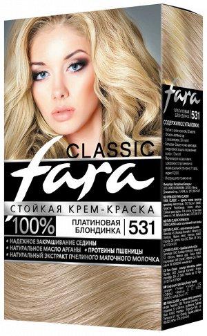 ФАРА Крем-краска для волос 531 платиновая блондинка /15шт/