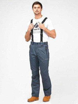 Мужские зимние горнолыжные брюки темно-серого цвета 18005TC