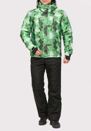 Мужской зимний костюм горнолыжный зеленого цвета 018108Z