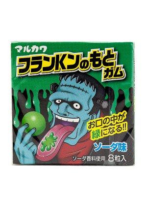 Резинка жевательная Marukawa Франкенштейн Зелёный (Лимонад), 8 шаров