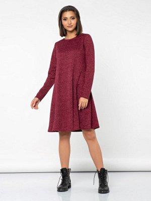 Платье (388/бордовый меланж)