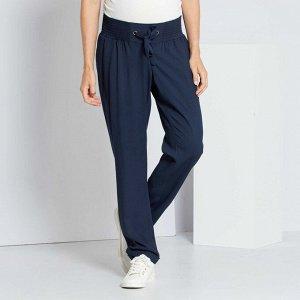 Легкие брюки для беременных - синий