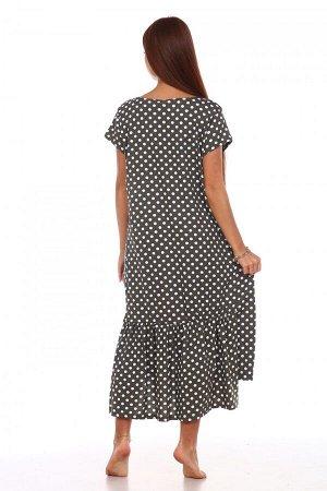 Платье Ткань: Кулирка; Состав: 100% хлопок; Размеры: 48, 50, 52, 54, 56, 58; Цвет: Оливковый