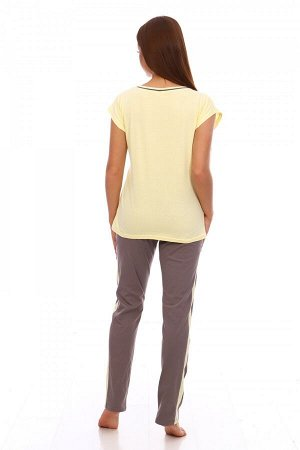 Костюм Ткань: Кулирка; Состав: 100% хлопок; Размеры: 44-54; Цвет: Желтый