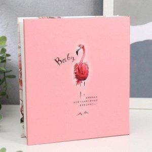 """Фотоальбом на 100 фото 10х15 см """"Фламинго и пионы"""" 17,5х15,6х4,6 см"""