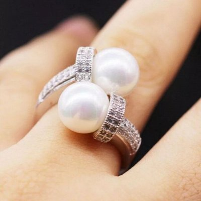 СЕРЕБРО РОССИИ! Огромный ассортимент💍 Лучший подарок 🎁 — Кольца с жемчугом — Ювелирные кольца