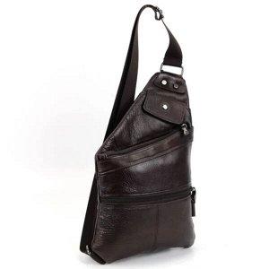 Мужская кожаная сумка слинг