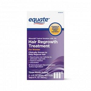 Лосьон для роста волос Миноксидил (Minoxidil Equate) 2% - для женщин 3*60 мл