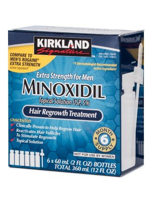 Лосьон для роста волос Kirkland Minoxidil 5% - США, Миноксидил для мужчин 6*60 мл