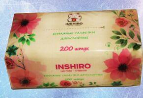 Салфетки в коробке  INSHIRO   в мягкой упаковке  2-х. сл. (200 шт.) EN020
