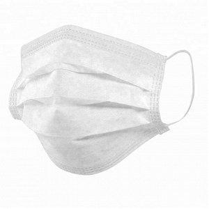 Маска Маска медицинская одноразовая трехслойная на резинках нестерильная, белая. Сертифицированная. Цена указана за упаковку - 100 шт!