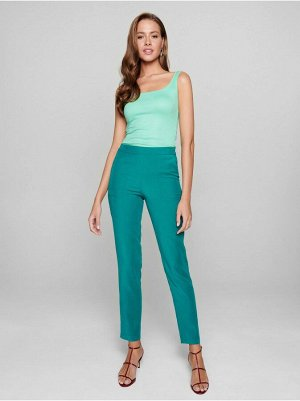 """Укороченные брюки свободного кроя из вискозы с эффектом """"ощущение шелка"""" INDIANA цвет Emerald lush"""