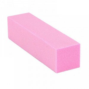 Блок шлифовочный (баф), 120 грит (розовый)