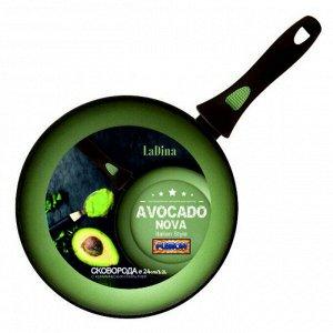 Сковорода Avocado алюминиевая с антипригарным керамическим покрытием 24 см