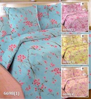 Постельное белье из бязи Шуя (пл.142) 2 спальное, синий