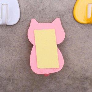 Набор крючков на липучке «Котик», 4 шт, цвет МИКС