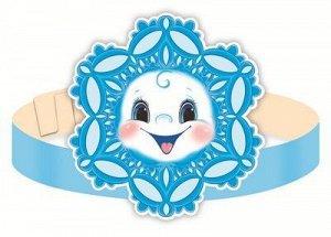 Картонная маска-ободок Снежинка