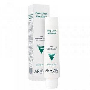 ARAVIA Professional 9001, Маска очищающая для лица с глиной и АНА-кислотами, 100 мл