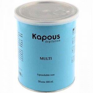 """Kapous, 384 Жирорастворимый воск """"SILVER"""" для спортсменов и мужчин в банке, 800 мл"""