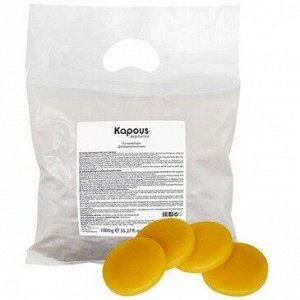 Kapous, 528 Эластичный воск желтый Натуральный в дисках, 1000 гр