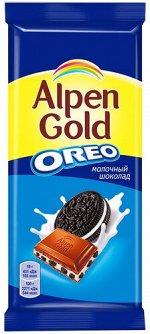 """Шоколад Альпен Гольд Alpen Gold Oreo молочный с дробленым печеньем """"Орео"""",95 г"""