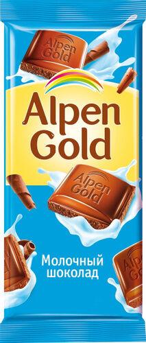 Шоколад Альпен Гольд Alpen Gold, молочный,85 г