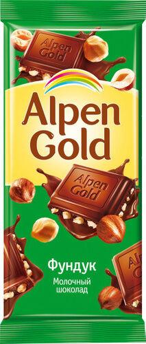 Шоколад Альпен Гольд Alpen Gold с дробленым фундуком,85 г