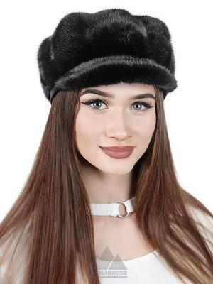 КепиБакара Цвета Темно-коричневый,Черный Кепи «Бакара» - это зимний головной убор, изготовленный из натурального меха финской норки, который пользуется заслуженной популярностью у женщин. Аскетичная к
