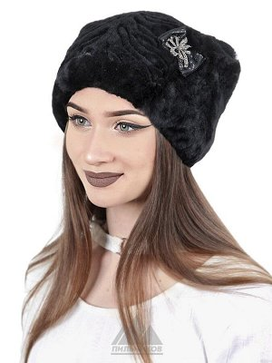 ШапкаЛуиза Цвета Черный Шапка «Луиза» - женский головной убор из натурального меха австралийского мутона, стилизованного под каракуль. Объемная модель прямоугольной формы, украшенная сбоку аккуратным