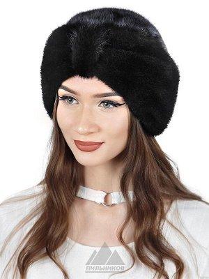 ШапкаХанна ЦВЕТА: Черный, Орех, Темно-коричневый, Шапка «Ханна» - женский головной убор из натурального меха финской норки. Оригинальная модель в форме чалмы закругленной формы. Внутри утепленная подк