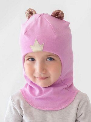 Шапка-шлем Писание и параметры;;;;;;;;;;;;;; Шапка-шлем сиреневого цвета для девочки . Удлиненная манишка закрывает шею, а утеплитель из холлофайбера в районе ушей сохраняет дополнительное тепло.Двухс