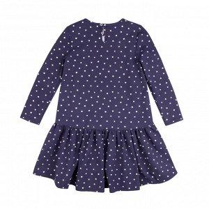 Платье Количество в упаковке: 1; Артикул: BN-144П-177-С; Цвет: Синий; Ткань: Кулирка с лайкрой; Состав: 95% хлопок, 5% эластан; Цвет: Синий | Молочный Скачать таблицу размеров