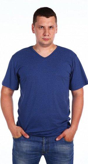 Футболка Количество в упаковке: 1; Артикул: ЛЕТ-м118и; Цвет: Синий; Ткань: Кулирка; Состав: 100% Хлопок; Цвет: Индиго
