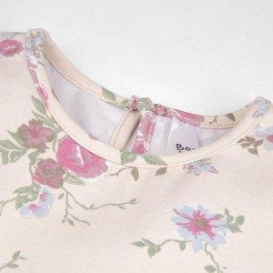 Платье Количество в упаковке: 1; Артикул: BN-144П-177; Цвет: Молочный; Ткань: Кулирка с лайкрой; Состав: 95% хлопок, 5% эластан; Цвет: Синий | Молочный Скачать таблицу размеров