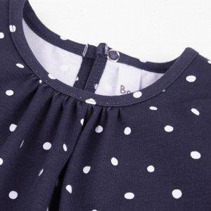 Платье Количество в упаковке: 1; Артикул: BN-146П-177-С; Цвет: Синий; Ткань: Кулирка с лайкрой; Состав: 95% хлопок, 5% эластан; Цвет: Синий Скачать таблицу размеров