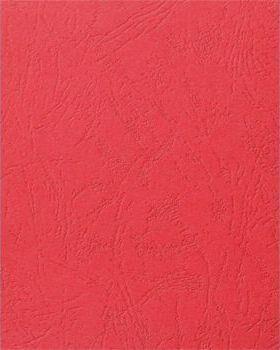 """Обложка для переплета А4 100 шт. """"Delta"""" картонная с тиснением под кожу, красная 250г/м2 LA-78686 Lamirel {Китай}"""