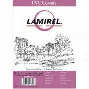 Обложка для переплета А4 100 шт. PVC (150мк) прозрачная LA-78680 Lamirel {Китай}