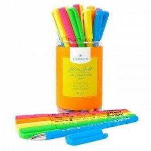 """Ручка шариковая масляная 0.5мм """"Slim Soft. LOREX NEON"""" синяя LXOPSS-NN1 LOREX {Китай}"""