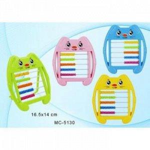 """Счеты детские пластиковые на подставке 16,5х14 см """"Котенок"""" MC-5130 Basir {Китай}"""