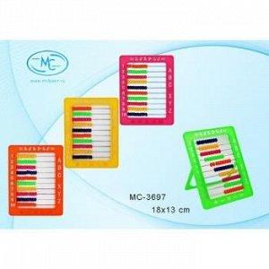 Счеты детские пластиковые на подставке 18х13 см MC-3697 Basir {Китай}
