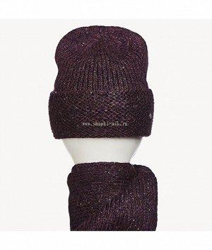 743042 флис (шапка+шарф) Комплект