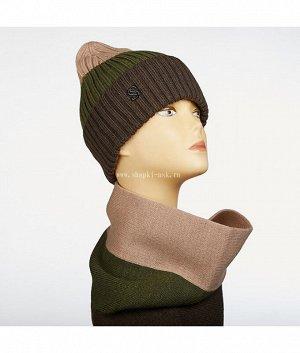 Multicolor (шапка+шарф-кольцо) Комплект