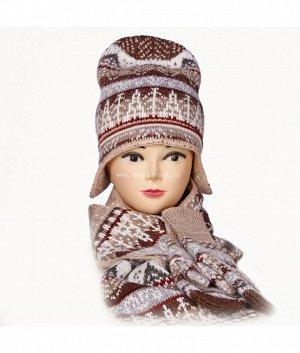 Ушанка колпак 3-ка (колпак+шарф+варежки) Комплект