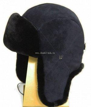 2761-35 LF Hatx овчина замша/драп (57-61) Ушанка