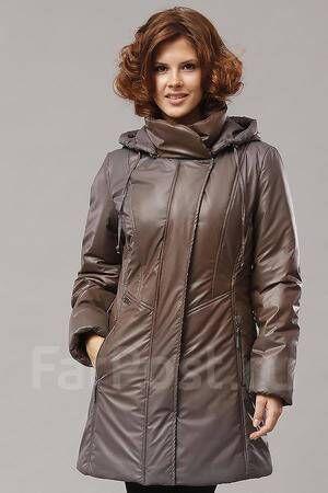 Удлиненная зимняя стильная женская куртка  50 размер