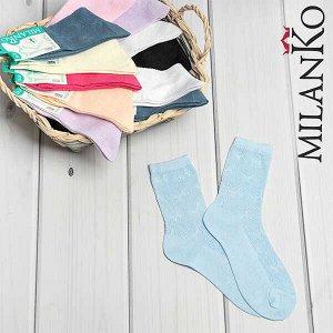 Женские носки в мелкую сетку milanko