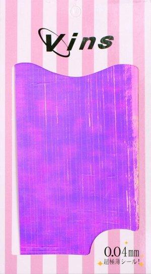 Лента для дизайна (Фиолетовые полоски голографик)