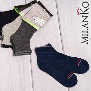 Мужские хлопковые носки с махровым следом (узор 2) milanko
