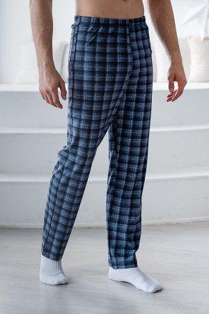 Брюки мужские пижамные из кулирки серый