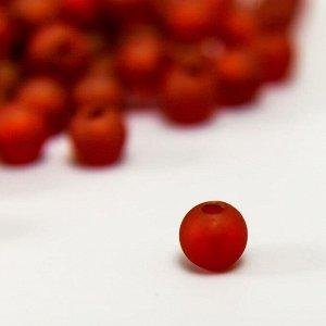 """Набор матовых бусин """"Астра"""" 6 мм, 20 гр, бордовый"""